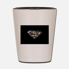 black diamond Shot Glass
