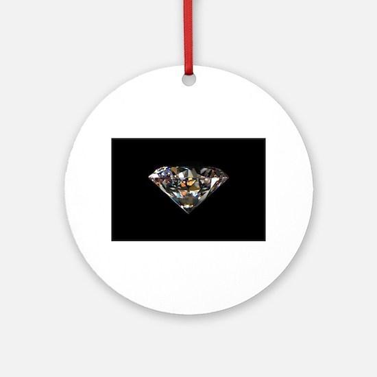 black diamond Ornament (Round)
