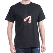 SUNSHINE AND FLIP FLOPS APPLIQUE T-Shirt