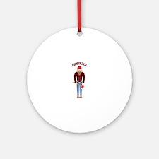 Lumberjack Ornament (Round)