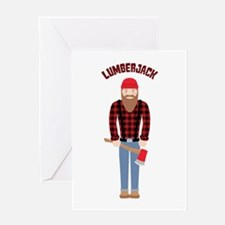 Lumberjack Greeting Cards