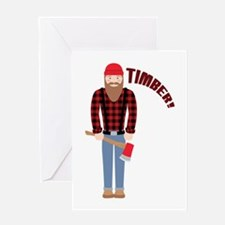 Timber! Greeting Cards