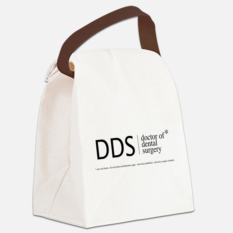 DDS, doctor of dental surgery Canvas Lunch Bag