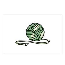 BALL OF KNITTING YARN Postcards (Package of 8)