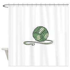 BALL OF KNITTING YARN Shower Curtain