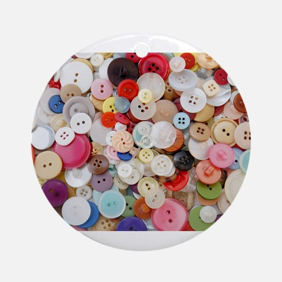 rainbow buttons Ornament (Round)
