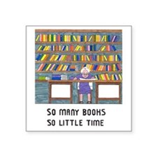 "Cute Shelf Square Sticker 3"" x 3"""