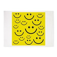 happy faces 5'x7'Area Rug