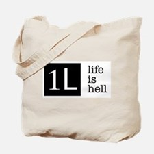 1L, life is hell Tote Bag