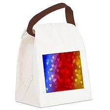 rainbow hearts Canvas Lunch Bag