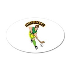 Field Hockey with Text Wall Decal
