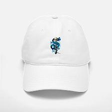 Blue Dragon Skull Baseball Baseball Cap