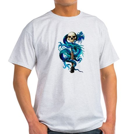 Blue Dragon Skull Light T-Shirt
