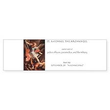 st. michael the archangel Bumper Bumper Sticker