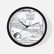BRAINS WORKING ON BRAINS NEWE Wall Clock
