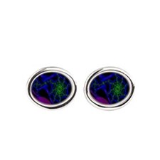 Electric Ribbons Oval Cufflinks