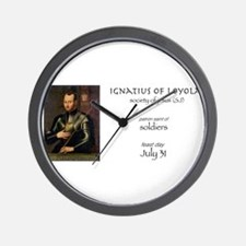 st. ignatius of loyola, patron saint of Wall Clock