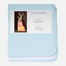 st. apollonia, patron saint of dentis baby blanket