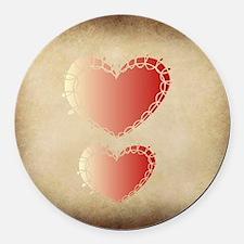 Loving hearths  Round Car Magnet
