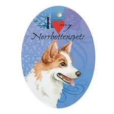 Norrbottenspets Ornament (Oval)