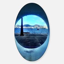 Cute Tsunami Sticker (Oval)