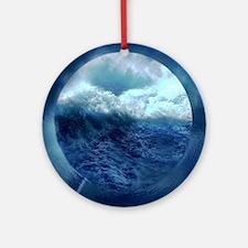 Unique Tsunami Round Ornament