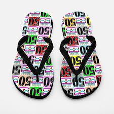 Amazing 50th Flip Flops
