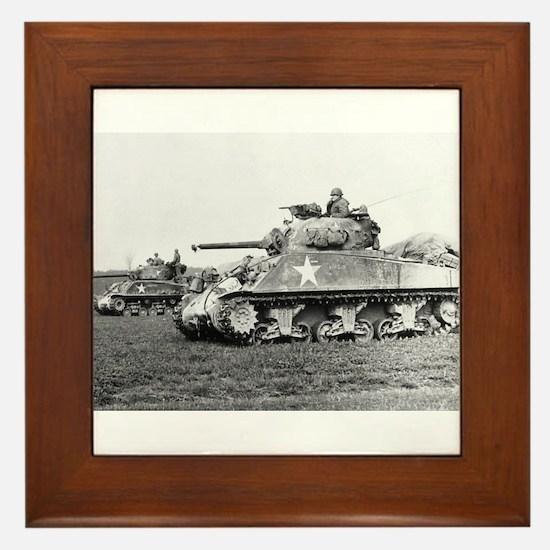 M4 SHERMAN Framed Tile