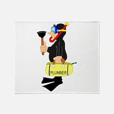 Scuba Plumber Throw Blanket