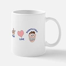 PEACE LOVE DENTISTRY Mugs