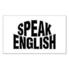 Speak English Rectangle Decal