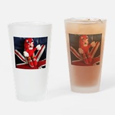 Jet power hedgehog Drinking Glass