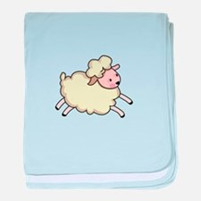 JUMPING LAMB baby blanket