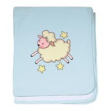LAMB AND STARS baby blanket