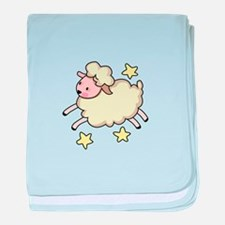 LAMB AND STARS baby blanket