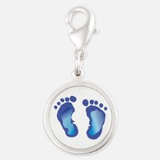 NEWBORN BABY FOOTPRINT Charms