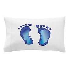 NEWBORN BABY FOOTPRINT Pillow Case