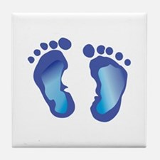 NEWBORN BABY FOOTPRINT Tile Coaster