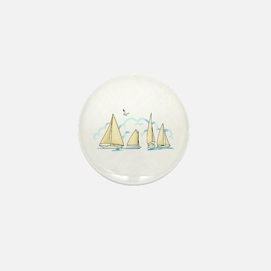 SAILBOATS Mini Button
