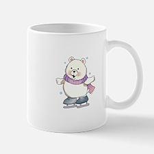 ICE SKATING POLAR BEAR Mugs