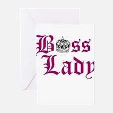 BOSS LADY, CROWN Greeting Cards