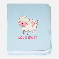 LOVE EWE baby blanket