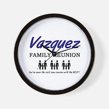 Vazquez Family Reunion Wall Clock