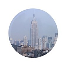 "Empire State Building NYC Pro Photo 3.5"" Button"