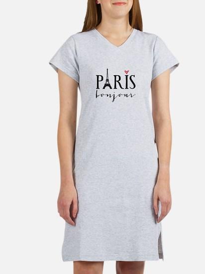 Paris bonjour Women's Nightshirt