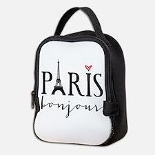 Paris bonjour Neoprene Lunch Bag