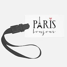 Paris bonjour Luggage Tag