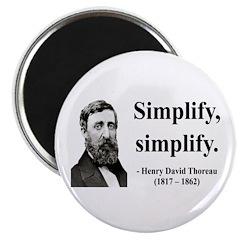 "Henry David Thoreau 2 2.25"" Magnet (10 pack)"