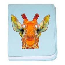 abstract giraffe calf baby blanket