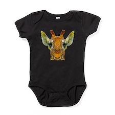 abstract giraffe calf Baby Bodysuit
